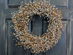 Spring Wreath  Primitive St. Patrick's Day Berry by Designawreath, $58.95