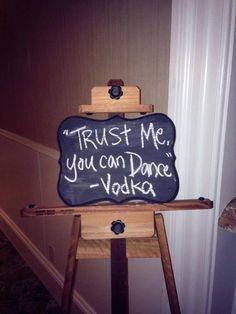 hahaha at the reception bar!