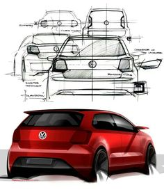 VW polo concept sketches
