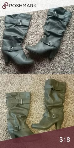 Fall / Winter Boots Gray Fall / Winter Boots from Target  Great Condition!  Make an offer :)  Thanks for looking! :) Shoes Heeled Boots
