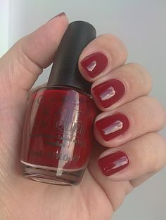 dark red nail polish