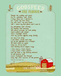 Godspeed the Plough - 8x10 Art Print