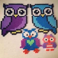 Owls hama perler beads by pagey163