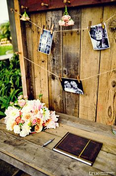 great idea for guest book table Guest Book
