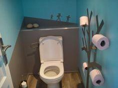 déco toilettes bleu et grise - par mamanamitemps