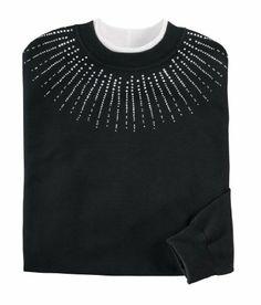 $29.99 - $34.99 cool Miles Kimball Womens Sunburst Yoke Sweatshirt