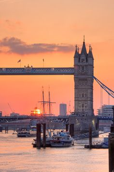 Tower Bridge Sunset by Christopher Holt - art print from King & McGaw