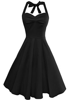 Anni Coco Womens Halter Vintage Swing Tea Dresses TruBlack XLarge -- Visit the image link more details. Pretty Outfits, Pretty Dresses, Beautiful Dresses, Cute Outfits, Vintage 1950s Dresses, Vintage Outfits, Vintage Fashion, Fashion Mode, Mode Vintage