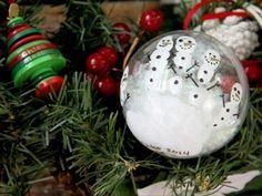 Holiday Kid Craft: DIY Handprint Snowmen Ornaments >> http://www.diynetwork.com/how-to/make-and-decorate/entertaining/how-to-make-kid-s-handprint-snowmen-ornaments?soc=pinterest