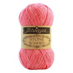 Scheepjes Stone Washed - 835 rhodochrosite / felroze - Katoen Garen