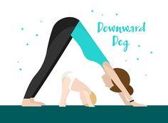 Downward dog baby yoga exercises