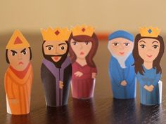 Purim Finger Puppets {Printables}
