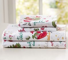 Twas the Night Before Christmas Flannel Sheet Set at pottery barn kids. The Night Before Christmas, Little Christmas, All Things Christmas, Christmas Time, Christmas Ideas, Christmas Sheets, Christmas Bedding, Flannel Duvet Cover, Twas The Night