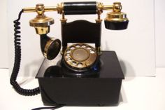 Vintage Rotary Telephone French Style Hollywood Regency Table Phone Works $129.99