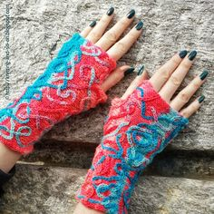 These Serpentina Mitts would be a great project for any of our color changing yarns like Vanna's Tapestry or Tweed Stripes. Check out the knit pattern by Knitting and So On.