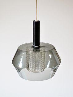 Mid Century Rare Orrefors Carl Fagerlund large smoked & cut glass pendant lamp | eBay Danish Modern, Mid-century Modern, Mid Century Modern Lighting, Cut Glass, Pendant Lamp, Ceiling Lights, Smoke, Antiques, Ebay