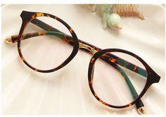フレーム豹柄度付き眼鏡ブルーライトカット眼鏡