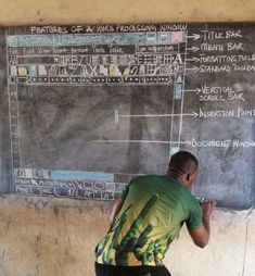 Microsoft to send viral Ghanaian blackboard computer science teacher a real PC to teach with