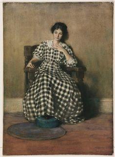 Georgia OKeeffe as young woman.  Painter - Hilda Belcher