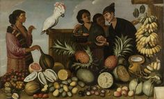 Albert Eckhout East Indian Market Stall Netherlands (c. Oil on Canvas, 117 X 174 cm. Rijksmuseum, Amsterdam Related: My series on Eckhout in Brazil [x] [x] Amsterdam, Albert Eckhout, Market Stalls, Museum, Canvas Paper, Old Master, Art Reproductions, Fine Art Paper, Art History