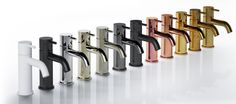 Buddy, available in 12 finishes Upstairs Bathrooms, Dream Bathrooms, Toilet Restaurant, Bathroom Tapware, Bathroom Inspiration, Knife Block, Shower, Collection, Taps