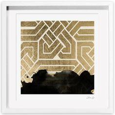 Oliver Gal Introspect Deco Framed Painting Print