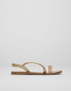 :Sandals with glittery straps