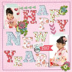 Hello 2017  Template : Titled 11 by Akizo Designs http://www.thedigichick.com/shop/Akizo-Designs/  Kit : Grow in Grace Collection by Seatrout Scraps  http://store.gingerscraps.net/Grow-in-Grace-Coll.html   New Year Greetings 2017 by Akizo Designs http://www.thedigichick.com/shop/Akizo-Designs/  Photos : umibe no haha-san