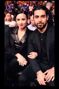 Demi Lovato and Wilmer at the MGM Grand Garden Arena in Las Vegas, Nevada - January 31st