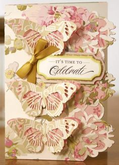 Card made from Anna Griffin's Cricut Soirees and Camilla paper collection. Gorgeous!
