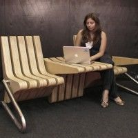 The Coffee Bench, by Karolina Tylka of the Polish design studio BEYOND, can be configured as a bench, chairs with tables, or anything in between. Brilliant!