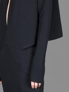 Black dress detail; creative pattern cutting; contemporary fashion // Haider Ackermann