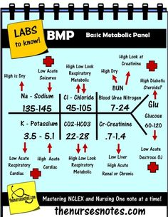 BMP Chem7 Fishbone Diagram explaining labs - From the Blood Book Theses are the Labs you should know Hyponatremia Sodium Lab Value Blood Hyponatremia Mnemonic Nursing Student This is a collection of my Blood Book part of BMP Fishbone diagram explaining the Hyperkalemia Hypokalemia, Na K Cr Hypomagnesemia BUN Creatinine Addisons Dehydration Study Sheets for Nurses NCLEX Tips The Nursing Notes Cheats KAMP 300 free NCLEX Questions on the site! by lorrie