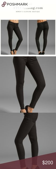 AG Adriano Goldschmied Absolute Legging Jeans AG Adriano Goldschmied Absolute Legging Black Jeans  65.5% Coton 31% Poly 3.5% Lycra Ag Adriano Goldschmied Jeans Skinny