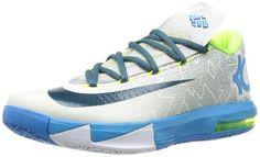 dbdd479b129f Nike KD VI LAM Men Sneakers Pure Platinum Vivid Blue Volt Night Factor  599424-009 (SIZE  10)