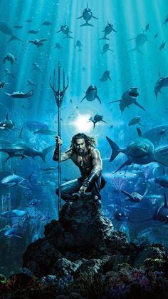 It's the moment that many die-hard DC Comics fans have been waiting for — the trailer for Aquaman, featuring Hawaii's own Jason Momoa, is set to release this weekend. Aquaman Film, Aquaman 2018, Aquaman Comics, Patrick Wilson, Arthur Curry, Dc Comics, Smallville, 2018 Movies, Movies Online