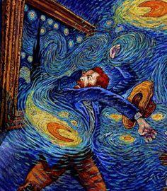 in the starry night ✨🌙 Art By Vincent Van Gogh, Van Gogh Art, Van Gogh Paintings, Post Impressionism, Art Plastique, Love Art, Oeuvre D'art, Collage Art, Art Inspo