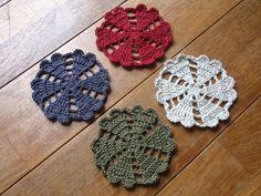 ハート&ハートコースター♪の作り方 編み物 編み物・手芸・ソーイング アトリエ