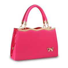 Bow Accent Daily Handbag in Hot Pink, 28% discount @ PatPat Mom Baby Shopping App  Get another 25%off use coupon code epISV7