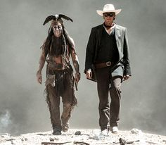 Johnny Depp in 'The Lone Ranger'