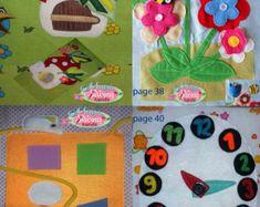 Libro de actividades niño ocupado libro páginas del libro