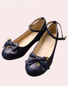 Ribbon Shoes with Moon and Star Charms | Innocent World
