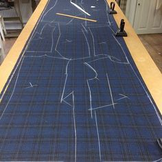 """cockofthewalkbespoke - """"  """"Great choice Sir"""" It's not every day you draught a suit you secretly wish was yours. Wonderfully soft and beautiful cloth from @wbill1846 on our draughting table about to begin its journey to bespoke.  As always, draughted, cut and made by our hands at the workshop on Grimston Street, Hull  #madeinhull #hull #hull2017 #madeinbritain #bespoke #bespoketailor #bespoketailoring #mastertailor #tailoring #tailor #artisan #traditional #workshop #sartoria #sartorial…"""