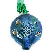 Songstone Ocarina - Irish Celtic Cross by Songstone. $28.00. The ocarina is an ancient flute-like wind instrument. These Songstone ocarinas are made in England by John Langley. They are hand tuned multiple times in the creation process to produce a high quality instrument. Ocarinas are fun and easy to play. This ancient instrument is enjoying resurgence in popularity from its association with the Legend of Zelda games. Included in the gift box with the ocarina, is a simple in...