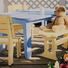 Uwharrie Chair Harvest Kids Picnic Table by Uwharrie. $359.00. Hand crafted from premium, kiln-dried pine, the Harvest Kid's Picnic Table will offer comfort and class for years to come. Selected for Uwharrie Chair products are finish colors which exhibit a hand crafted, folk art quality. Individual pieces are lightly distressed and sanded to reveal bare wood in random areas. This rustic quality is enhanced over time as the products are exposed to the elements. Consequently, even...