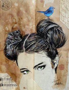 "Saatchi Art Artist Loui Jover; Drawing, ""changes everything"" #art"