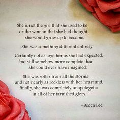 She is not the girl she used to be