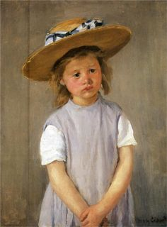 Child In A Straw Hat - Mary Cassatt - Could do self portrait in straw hat