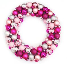 Pretty In Pink Christmas Decorations - Artificial Christmas Trees