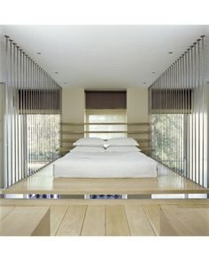 Suspended bed in London boutique hotel | Anouska Hempel Design. How fun is that.